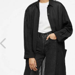 Anine Bing Flowy Black Full-Length Duster Jacket